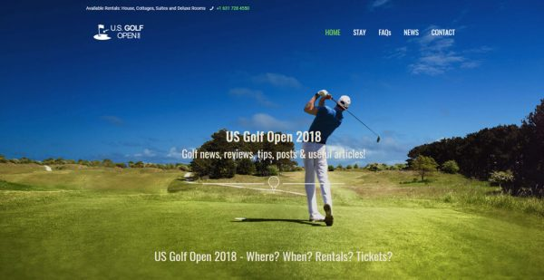 US Golf Open 2018